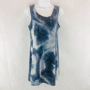 Olivia Rae Blues Tie Dye Tank Tunic Dress L